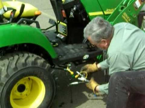 John Deere Quick Attach Loader Procedure  YouTube