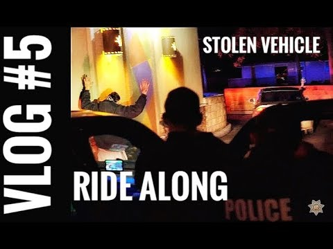 Chico PD Ride Along VLOG #5 Stolen Vehicle