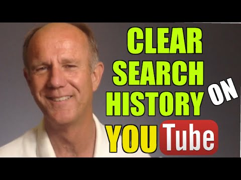 how to clear youtube search history on pc