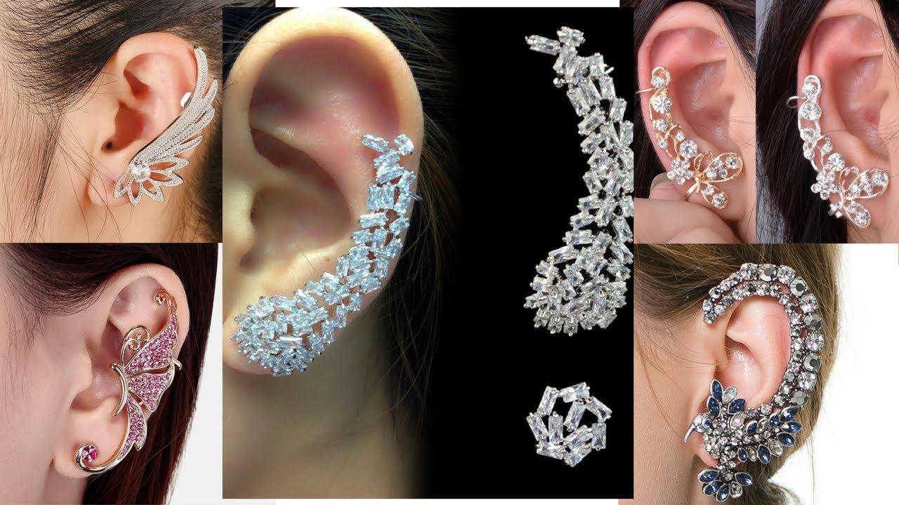 beautiful earcuff designs - latest ear cuff earrings designs
