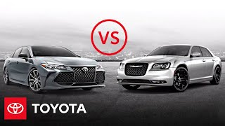 homepage tile video photo for 2020 Toyota Avalon vs. 2020 Chrysler 300S | Full-Size Sedan Comparison | Toyota