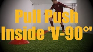 pull push inside v 90 cones dribbling drills soccer ball mastery training for u12 u13