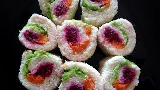 Rainbow Wheels Recipe Vegetarian (sri Lankan Influenced) Party Food