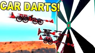 Jumping Sticky Cars at A Giant Dart Board! - Trailmakers Gameplay