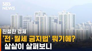 '전·월세 금지법' 뭐기에?…샅샅이 살펴보니 / SBS / 친절한 경제