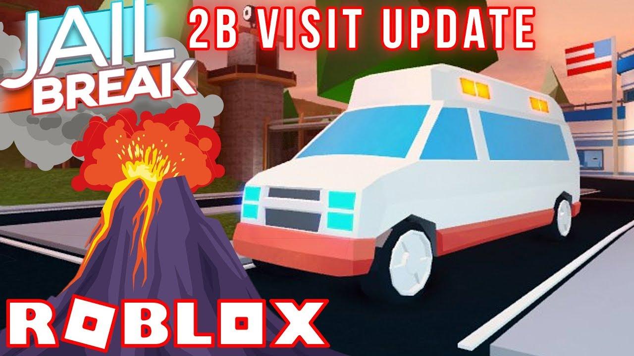 Ambulance Volcano Eruption Live Reaction Roblox Jailbreak 2b Update Youtube