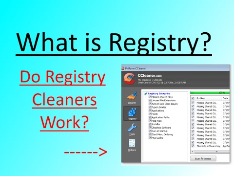 what is registry and are registry cleaners worth it - Registry