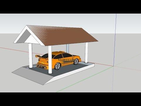 Sketchup Tutorial #05 -Car Porch design