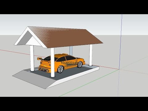 Car Porch Design Sketchup Youtube