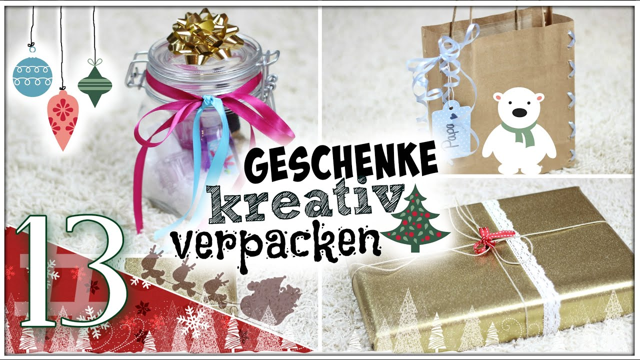 geschenke kreativ verpacken diy santagirls beautxmas youtube. Black Bedroom Furniture Sets. Home Design Ideas