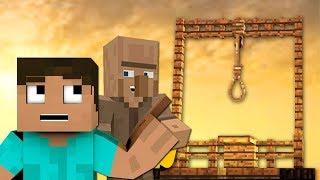 NOOB CONSTRUYE UNA HORCA PARA MATAR ALDEANOS   Minecraft Videos