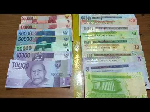 Mata Uang Indonesia Rupiah(IDR) Vs Mata Uang Saudi Arabia Riyal (SAR), 1 Riyal Kira2 3.700 Rupiah
