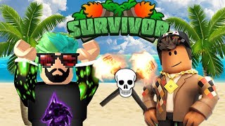 YOUTUBERS AGAINST FANS | ROBLOX SURVIVOR COMPETITION WEEK 1