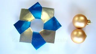 Origami Stern - Weihnachtsstern basteln - Weihnachten basteln mit Papier