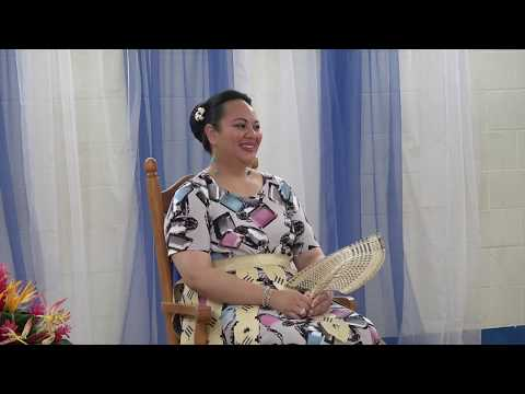 HRH Princess Angelika Lātūfuipeka visits Tupou High School after Cyclone Gita