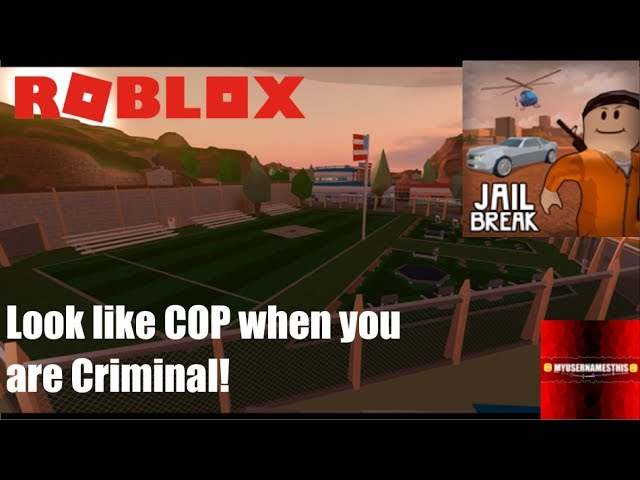 Roblox: JailBreak: Trick police! How to wear a Police Uniform as Criminal!