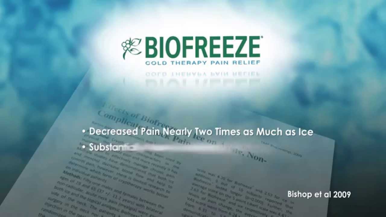 81170e95b The Science Behind Biofreeze - YouTube