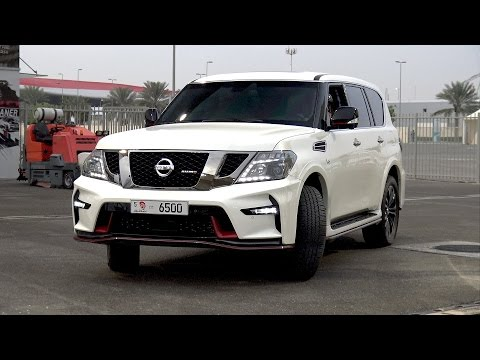 2017 Nissan Patrol Nismo doing 1/4 Mile Drag Race