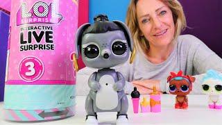 Spielzeugvideo für Kinder. Nicole packt LOL Surprise Spielzeug aus. Interactive Live Serie