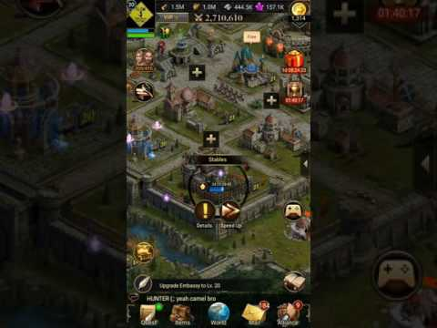 Clash Of Queens Lv22 Stables Upgrade And Updated VIP System For Version 1.8.8 Update