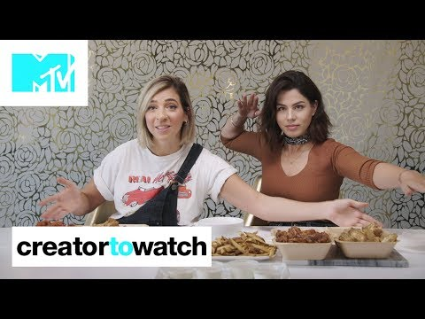Gabbie Hanna & Megan Batoon MUKBANG Chicken Wings 🍗 | MTV Creator To Watch