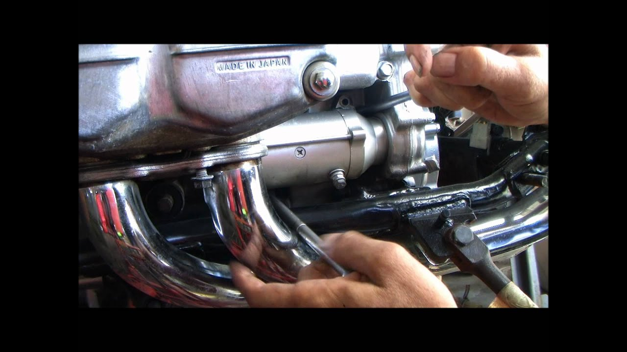1981 gl1100 goldwing starter removal and installation