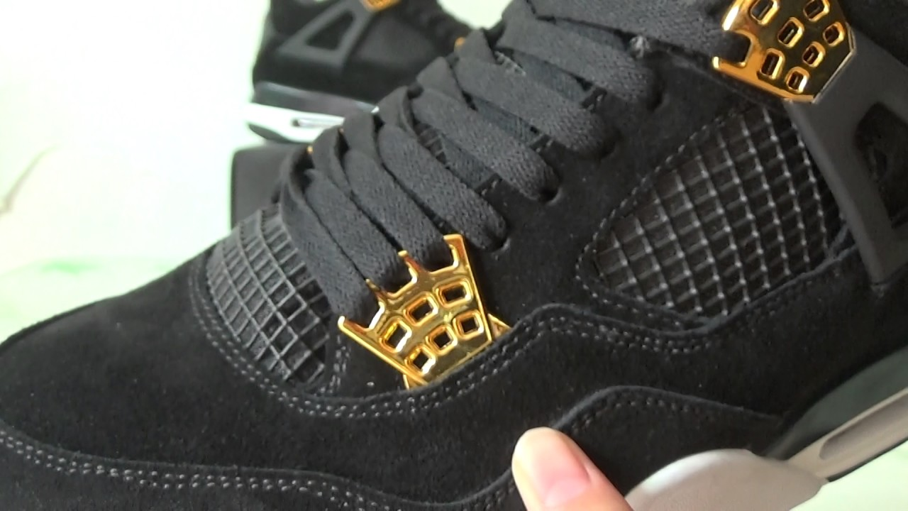 fa6d2e7e5a33 Unboxing review of jordan 4s black suede   royalty from kicksworld ...