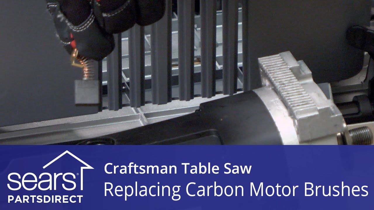 How To Replace Craftsman Table Saw Carbon Motor Brushes Youtube Grizzly Wiring Diagram