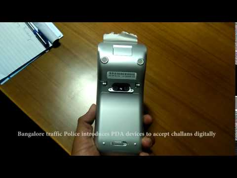Bangalore Police's PDA devices to accept challans digitally