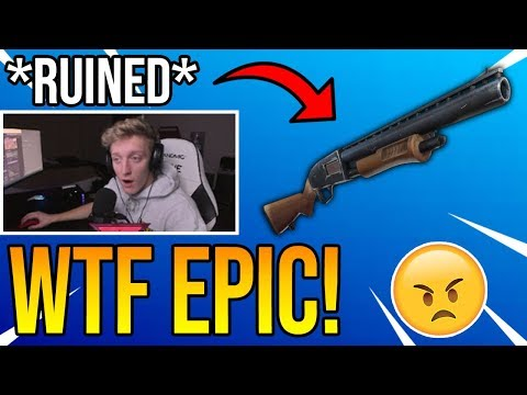 Tfue Reacts To Epic Games *RUINING* The Pump Shotgun in Season 7