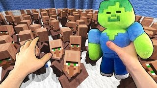 Realistic Minecraft - 1 ZOMBIE VS 100 VILLAGERS