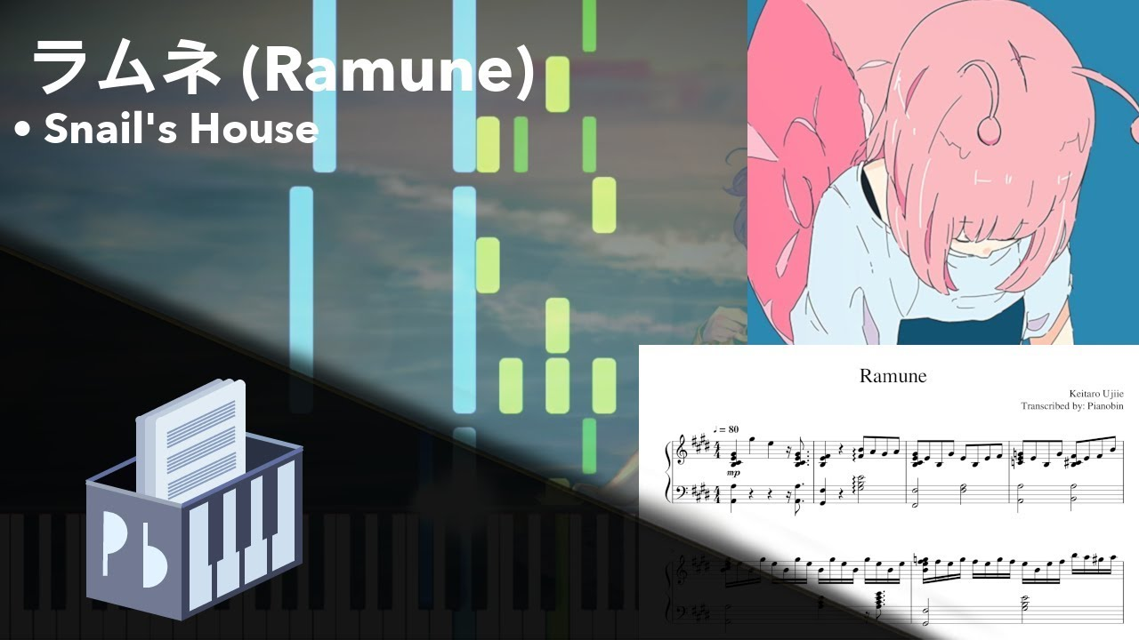 Ramune - Snail's House [Piano Tutorial + MIDI] (Synthesia) // Pianobin