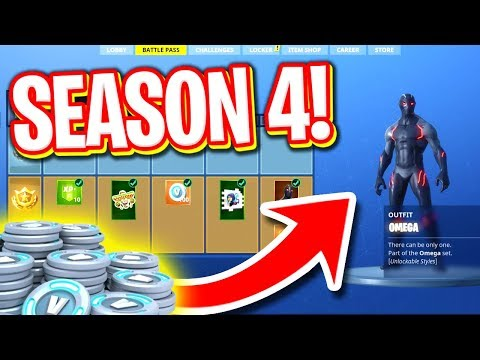 BUYING ALL SEASON 4 BATTLE PASS ITEMS! (NEW FORTNITE SEASON 4 SKINS)