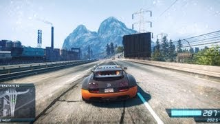 NFS Most Wanted 2 Bugatti Veyron 395km/h