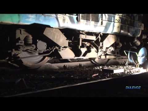 Rerailing a train using a rerailer (train wheel guide)