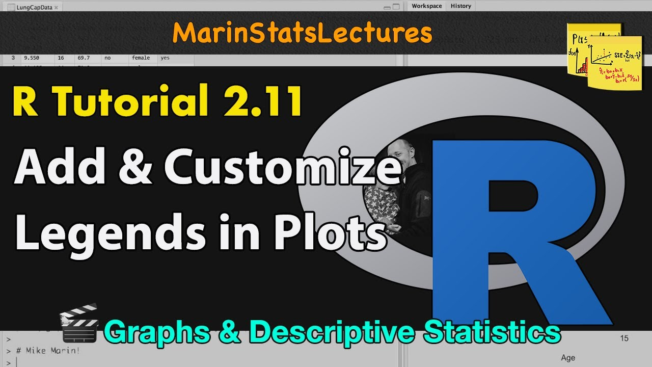 Add and Customize Legends to Plots in R | R Tutorial 2 11|  MarinStatsLectures