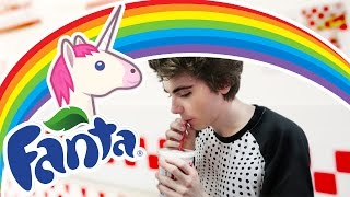 RAINBOW UNICORN FANTA taste test~!ヽ(◕.◕)⊃━☆゚. * ・ 。゚