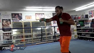 Keith Thurman's FULL shadow boxing routine for Danny Garcia- Thurman vs Garcia video