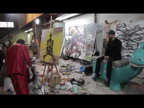 The RZA  David Choe A Black Mozart X Korean Jesus Collaboration