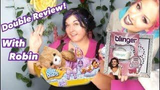 Blinger on Robin's Hair & Her New Cozy Dozy Bear!