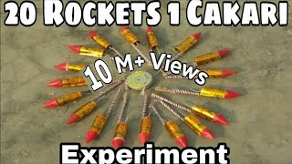 20 Rockets 1charkri || Experiments of Crackers || pataka || THEREALJAMMU