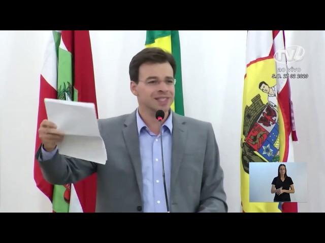 27/02/2020 - Pronunciamento Sessão Ordinária