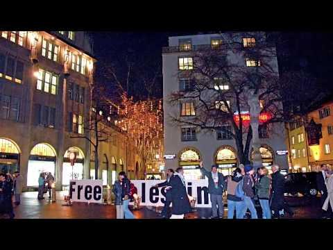 Free Palestine, int. human rights day, 10. dez. 2009 zurich, helvetic republic, switzerland.m4v