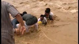 شجاعة مواطن تنقذ طفل جرفته السيول في وأدى أعشار بأحد ثربان