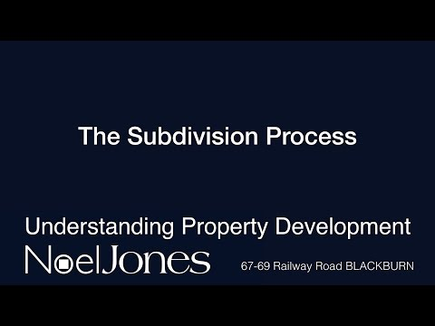 Understanding Property Development - The Subdivision Process