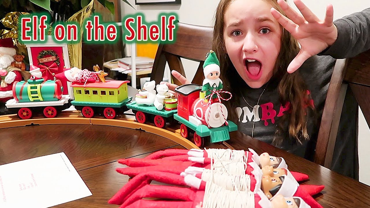 Elf On The Shelf Green Prankster Baby Elf Rides The Train Can I Save Them By Solving The Riddle Youtube