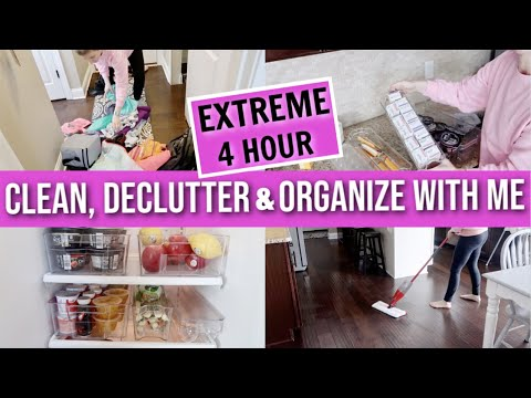 EXTREME DEEP CLEAN, DECLUTTER & ORGANIZE WITH ME 2019 | CLEAN WITH ME 2019 | ORGANIZATION IDEAS