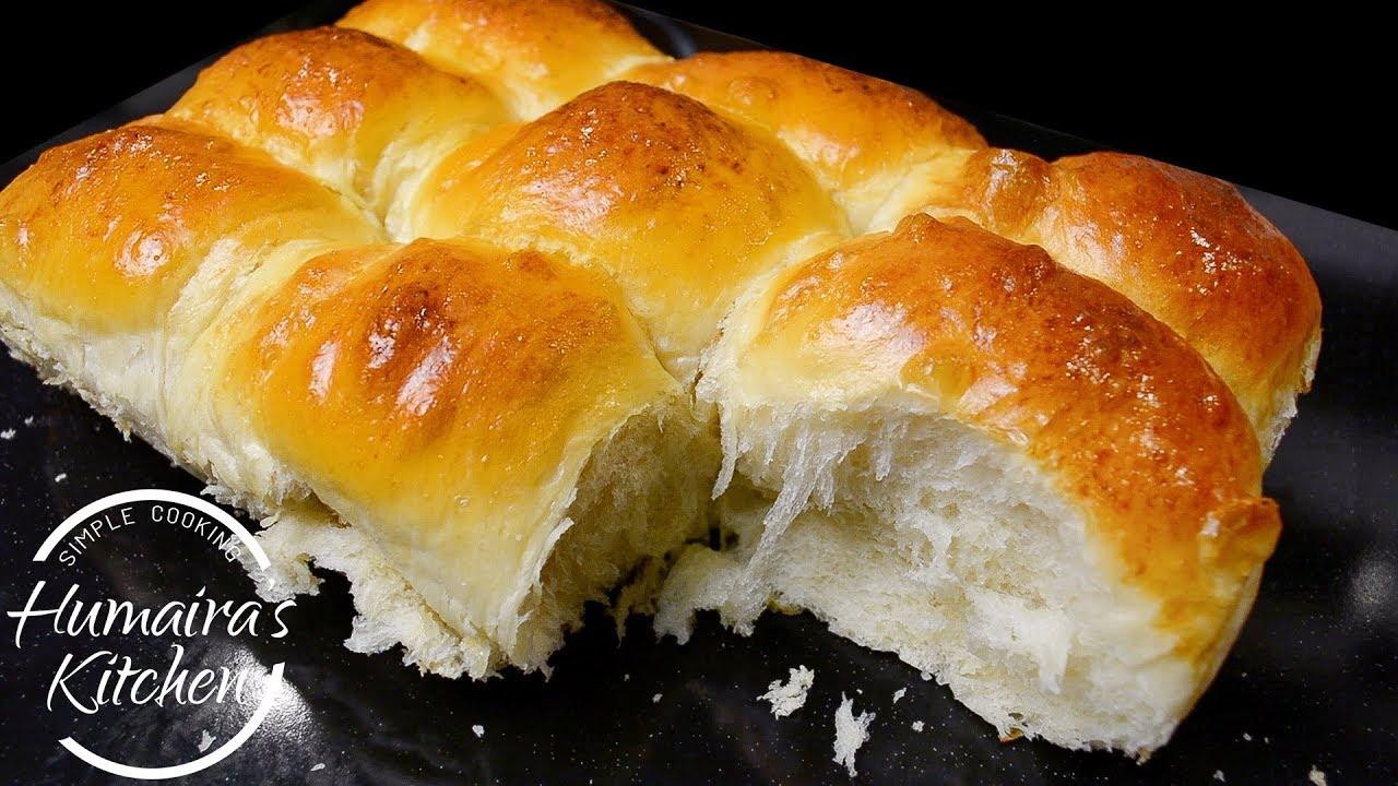 Dinner Rolls Milk Bread Buns Recipe - Ladi Pav Recipe - Soft