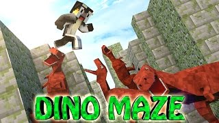 Minecraft | MAZE CHALLENGE SURVIVAL - DINOSAUR Challenge Part 5! (CrazyCraft)