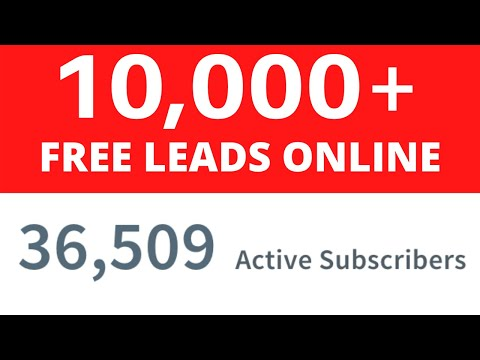 FREE LEADS FOR MLM – How To Get 10,000+ Leads Online (Network Marketing 2020)